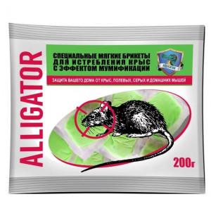 Аллигатор от крыс и мышей мягкие брикеты 200гр