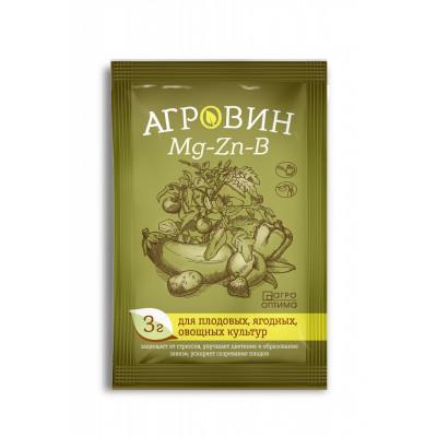 Агровин Mg-Zn-B( магний,цинк,бор) для плодовых, ягодных и овощных культур, 3г