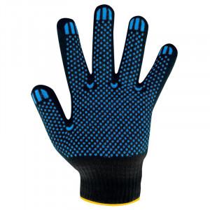 Перчатки ХБ ПВХ 4-нитки черные (Хлопчатобумажные)