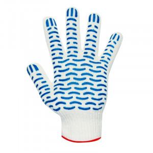 Перчатки ХБ ПВХ 6-нитей  (Хлопчатобумажные)