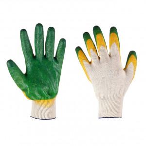 Перчатки ХБ с  2-м латексным покрытием
