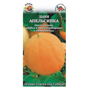 Дыня Апельсинка Золотая сотка Алтая Цветной пакет