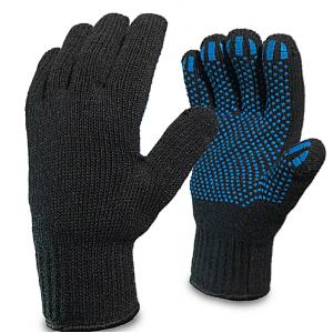 Перчатки Х/Б ПВХ 5-нитей черные