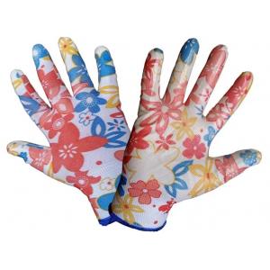 Перчатки Цветочек с силиконов. покрытием